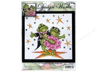 Cross Stitch Projects Clearance Crafts: Design Works Cross Stitch Kit 12 x 12 in. Dancing Frog
