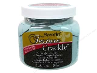 DecoArt Elegant Finish Paint 10oz: DecoArt Texture Crackle 10oz Glacier Blue