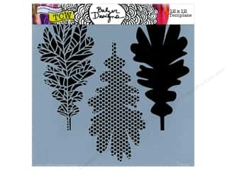 The Crafter's Workshop Template 12 x 12 in. Pattern Leaves