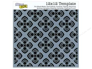 Templates Clearance Patterns: The Crafter's Workshop Template 12 x 12 in. Peacock Pattern