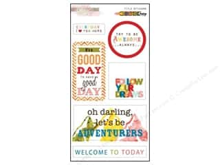 Glitz Design Sticker Title Color Me Happy