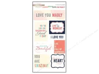 Glitz Design Sticker Title Love You Madly