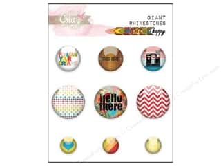 Glitz Design Giant Rhinestone Color Me Happy