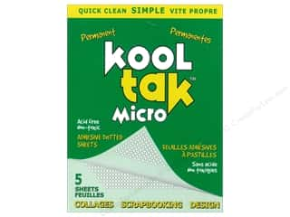 Kool Tac Kool Tak Ultra Clear Tape: Kool Tak Micro Dots Adhesive Sheets Permanent 5pc