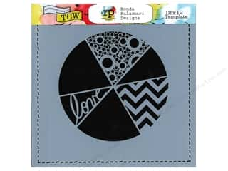 Crafter's Workshop, The Borders: The Crafter's Workshop Template 12 x 12 in. Pie Chart