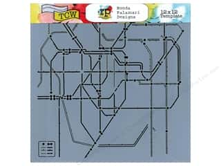 Transportation Clearance Crafts: The Crafter's Workshop Template 12 x 12 in. Subway