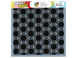 The Crafter's Workshop Template 12 x 12 in. Honeycomb