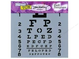 The Crafter's Workshop Template 6 x 6 in. Eye Chart