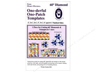 Templates $5 - $6: Marti Michell One-derful One-Patch Templates 60 deg. Diamond