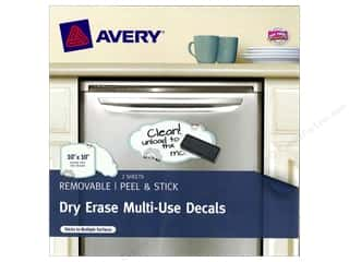 Erasers Dry Erase Boards: Avery Dry Erase 10 x 10 in. Multi-Use Decals