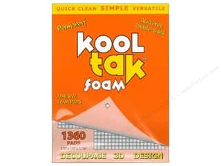"Kool Tac Kool Tak Ultra Clear Tape: Kool Tak Foam 1/8""x 1/8""x 1/16"" White 1360pc"