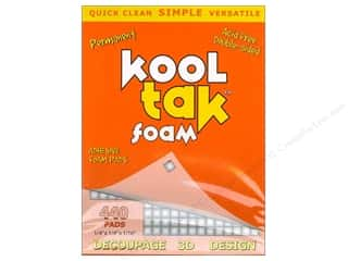 "Kool Tac Glues, Adhesives & Tapes: Kool Tak Foam 1/4""x 1/4""x 1/16"" White 440pc"