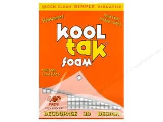Kool Tak Foam 1/4&quot;x 1/4&quot;x 1/8&quot; White 440pc