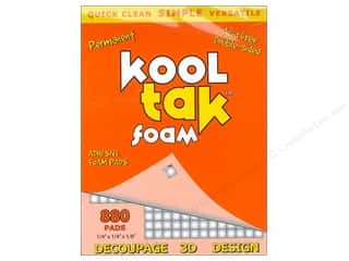 "Kool Tac $2 - $4: Kool Tak Foam 1/4""x 1/4""x 1/8"" White 880pc"
