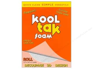 Kool Tak Foam 1/2&quot;x 1/8&quot;x 2.1yard Carded