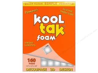 Kool Tak Foam 1/2&quot;x 1/2&quot;x 1/8&quot; White 160pc