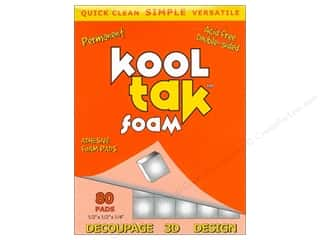Kool Tak Foam 1/2&quot;x 1/2&quot;x 1/4&quot; White 80pc