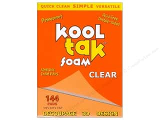 "Kool Tac Kool Tak Ultra Clear Tape: Kool Tak Foam 1/4""x 1/4""x 1/32"" Clear 144pc"