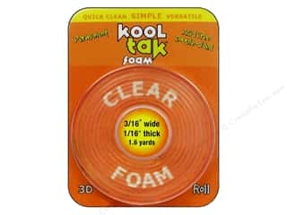 "Kool Tac Glues, Adhesives & Tapes: Kool Tak Foam 3/16""x 1/16""x 1.6yd Carded"
