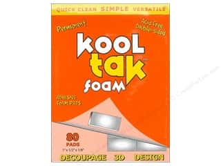 "Kool Tac Glues, Adhesives & Tapes: Kool Tak Foam 1""x 1/2""x 1/8"" White 80pc"