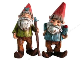 "Wood Gardening & Patio: Sierra Pacific Decor Gnome Figurine 9"" Assorted Blue or Green"