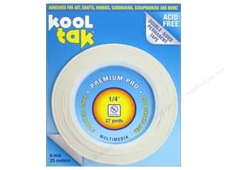 "Kool Tac Glues, Adhesives & Tapes: Kool Tak Premium Pro Tape 1/4""x27yd"