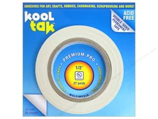 "Kool Tac Glues, Adhesives & Tapes: Kool Tak Premium Pro Tape 1/2""x27yd"