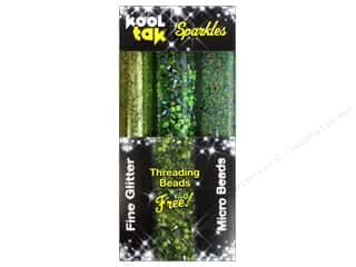 Kool Tac Kool Tak Ultra Clear Tape: Kool Tak Sparkles Set Assorted Green 3pc