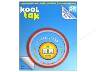 "Kool Tak Ultra Clear Tape 1/8""x6yd"