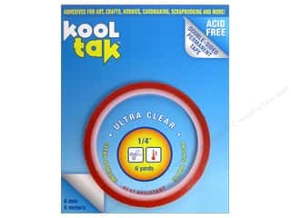 "Kool Tak Ultra Clear Tape 1/4""x6yd"