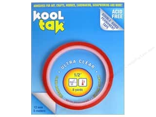 "Kool Tak Ultra Clear Tape 1/2""x6yd"