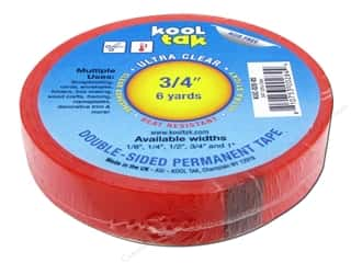 "Kool Tak Ultra Clear Tape 3/4""x6yd"