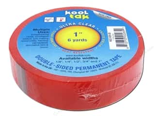 "Kool Tak Ultra Clear Tape 1""x6yd"