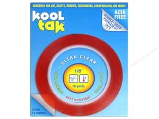 "Kool Tak Ultra Clear Tape 1/8""x16yd"