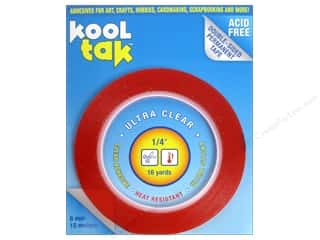 "Scissors 1/4 in: Kool Tak Ultra Clear Tape 1/4""x16yd"