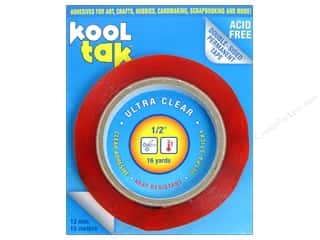 "Kool Tak Ultra Clear Tape 1/2""x16yd"
