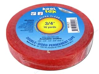 "Kool Tak Ultra Clear Tape 3/4""x16yd"