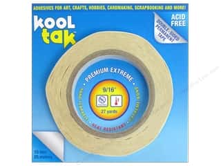 "Picture/Photo Frames Glues, Adhesives & Tapes: Kool Tak Premium Extreme Tape 9/16""x27yd"
