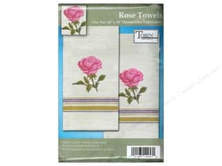 Tobin Stamped Towel 18x28 Homespun Rose 2pc