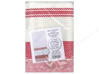 Design Works Cross Stitch Towel Red Check