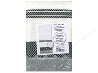 Design Works Cross Stitch Towel Black Check