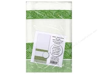 Design Works Cross Stitch Towel Green Leaves