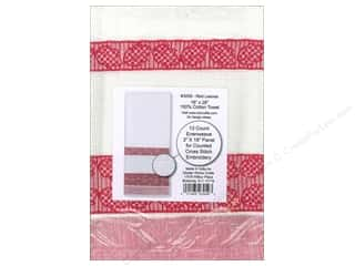 Design Works Crafts Yarn Kits: Design Works Cross Stitch Towel 100% Cotton Red Leaves