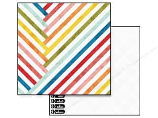 Glitz Design 12 x 12 in. Paper Color Me Happy Stripe (25 piece)