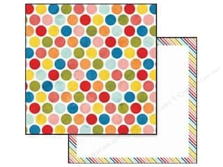 Glitz Design Paper 12x12 Color Me Happy Polka (25 piece)