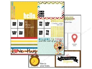 Glitz Design Paper 12x12 Color Me Happy Bits &amp; Pcs (25 piece)