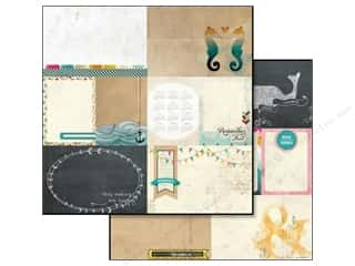 Glitz Design Paper 12x12 Uncharted Waters Bits Pcs (25 piece)