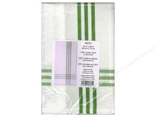Towels Flour Sack Towel: Design Works Embroidery Towel Striped Green