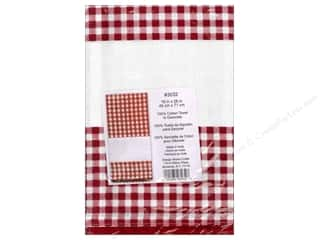 "Design Works Crafts 11"": Design Works Embroidery Towel Gingham Red"
