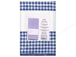 "Design Works Crafts 11"": Design Works Embroidery Towel Gingham Blue"